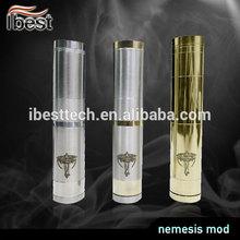 Ibest 2013 Hottest Mechanical Mod Stainless Copper Brass Nemesis Hookah Vaporizers Pen Wholesale Factory