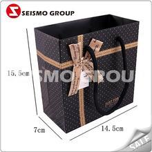 fancy shopping paper bag square bottom kraft paper bag