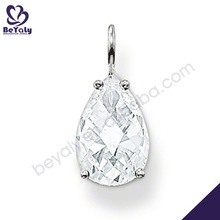 Simple design pendant silver delicate diamond necklace sets