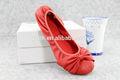 china nueva dama más reciente estilo italiano plana casual mujeres zapato de vestir