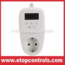 european plug in wall switch underfloor heating thermostat