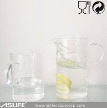 High quality glass milk jug 1000ml borosilicate glass thin clear hot and cold water jug