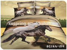 horse printed 3d duvet cover set