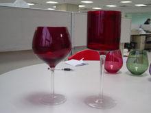 antique vases red glass