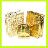 Golden Flashing Gift Paper Bag