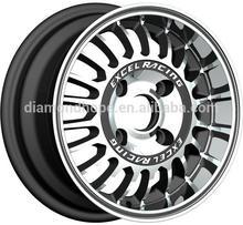 "Aluminum car alloy wheels & rims deep machined lip 13"" (ZW-P409)"
