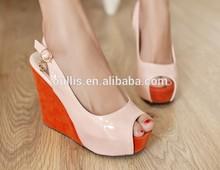 elegant shoes lady wedges 2014 wholesale footwear store CP6547