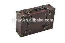 Wooden storage leather wine carrier