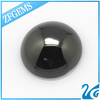 Machine Cut Round Shaped Cabochon Flat Bottom Black 12 mm Beads