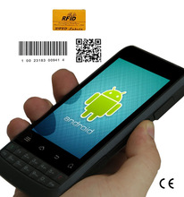 Rugged IP65 PDA Portable smart phone with 1D barcode scanner and 13.56M HF RFID reader 3G, WIFI, GSM