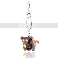 Free Shipping 2014 New Arrival Pig Leather Keychain for handbag accessories