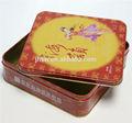 plaza de cajas de pastel de luna de metal de estaño latas puede paquete de galletas de dongguan