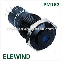 16mm IP67 Black metal push button switch with Dot illuminated light(PM162H-11ZD/B/12V/A/IP67,CE,ROHS)