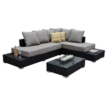 Sectional Patio Sofa Table Furniture Porch Garden Pool Wicker and Sunbrella royal furniture sofa set
