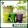 venta al por mayor fábrica de patio pot jardín macetas fibra bambú macetas de flores