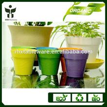 factory wholesale yard pot garden pots bamboo fiber flower pots