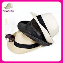 hot sale cheap girls fedora hat summer straw fedora hat