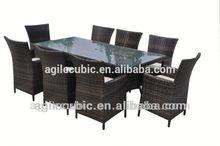 10032 new outdoor 8pc wicker rattan sofa set patio garde