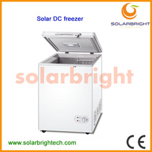 Manufacturer supply solar battery powered energy deep chest portable 12v dc deep freezer 150L