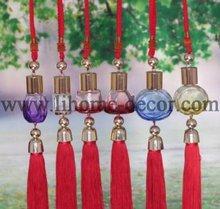 Shenzhen Lihome hot sale min hanging glass bottle car perfume with tassel