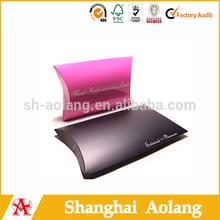glossy fashion design pillow shape paper gift box, kraft paper box