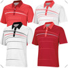 fashionable sublimation printing stripe golf Polo Shirts, high quality dry fit golf sports wear with sublimation printed