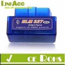 2014 Newest TH Mini ELM327 V1.5 OBD2 II Bluetooth Diagnostic Car Auto Interface Scanner CD