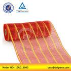 26cm stripe deluxe plastic metallic gift wrapping decorating mesh rolls
