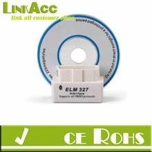 Linkacc-th78 White Mini ELM327 V1.5 OBD2 Bluetooth Any Car Diagnostic Tool Interface Scanner