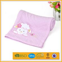 high-grade 100% bamboo fiber soft brush home embroidery baby blanket