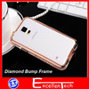 Newest bling Golden diamond aluminum bumper frame for samsung galaxy s5