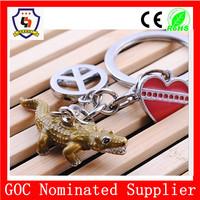 reptile crocodile shape key chain/ movie crocodile dundee character keychain (HH-key chain-786)
