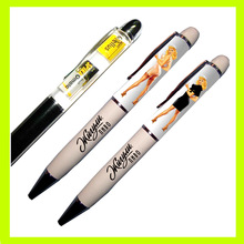 Plastic Promotion Liquid pen with 3D floater