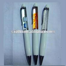 custom led liquid pen , promotional liquid ballpen ,China Supllier Led Liquid Pen With Customized Floater