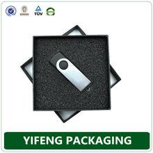 china supplier high quality recycle printing cardboard usb flash drive gift box
