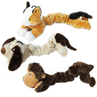 Stuffed cute plush pet toy with squeaker customized available / bottle fill dog toy