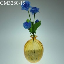 Yellow Color Beautiful Cheap Glass Flower Vases