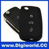 Folding Car Remote Flip Key Shell Case For Vw Golf Passat Polo Bora 3 Buttons