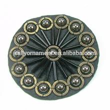 Handmade round beads brooch