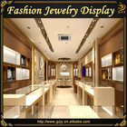 Fashion glass jewelry shop showcase for retail jewellery store interior decoration furniture display