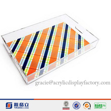 2014 Hot Sale Modern Looking Factory Manufacturing Acrylic Clear Lucite Serving Tray