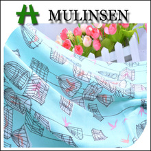 Mulinsen Textile Cartoon Picture Printed Woven 32s Rayon Viscose Challis Fabric For Kids Dress