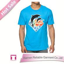 Custom cheap slogan t shirt wholesale slogan t shirts/ blue t shirts