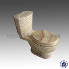 High-End Yellow Honey Onyx Toilets