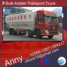 dongfeng 8x4 animal feed transport truck,bulk grain carrier,farming grain transporter