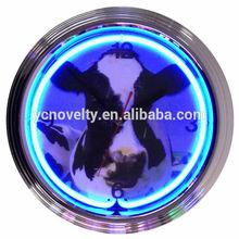 Cow Retro Quartz Neon Light Clock/Wall Clock