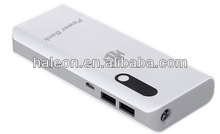Famous brand manual for mobile power bank supply 10000mAh for samsung galaxy note4