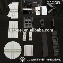 OEM custom injection molded furniture window pc/abs plastic parts plastic window clip