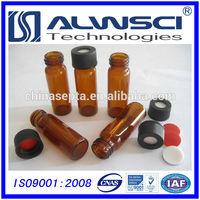 2014 hot sale 4ml 13-425 screw thread amber glass hplc vial suit for Agilent instrument