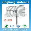 5.8 GHz 27dBi large bande antenne, Grille carré antenne parabolique pour Wlan système